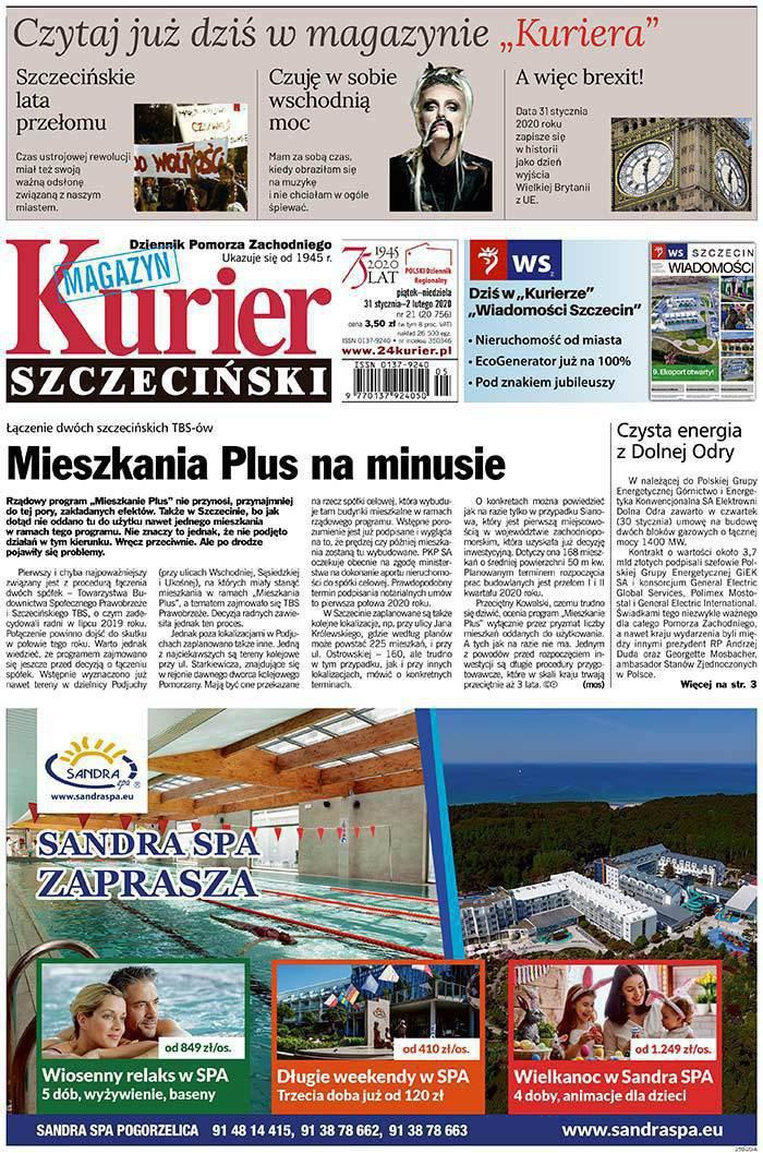 Kurier Szczeciński -                     2020-01-31