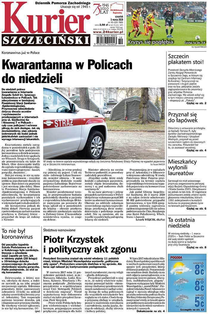 Kurier Szczeciński -                     2020-03-05
