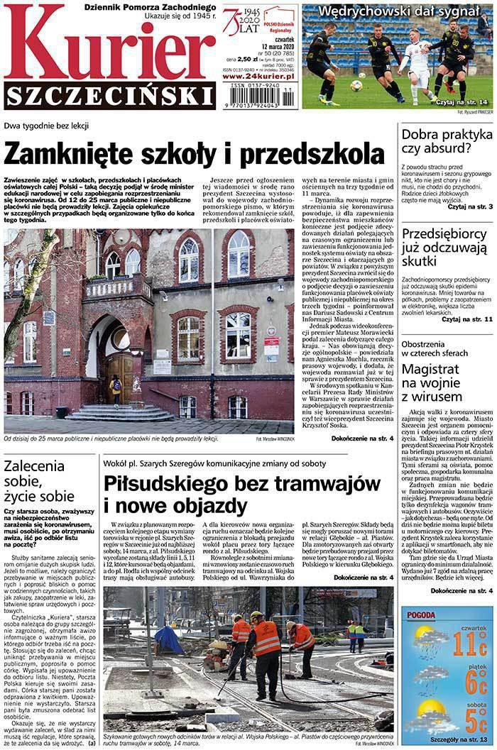 Kurier Szczeciński -                     2020-03-13
