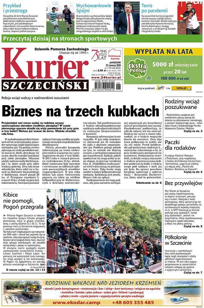 Kurier Szczeciński -                     2020-06-22