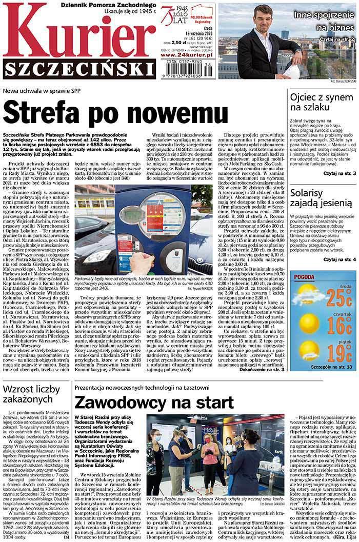 Kurier Szczeciński -                     2020-09-16