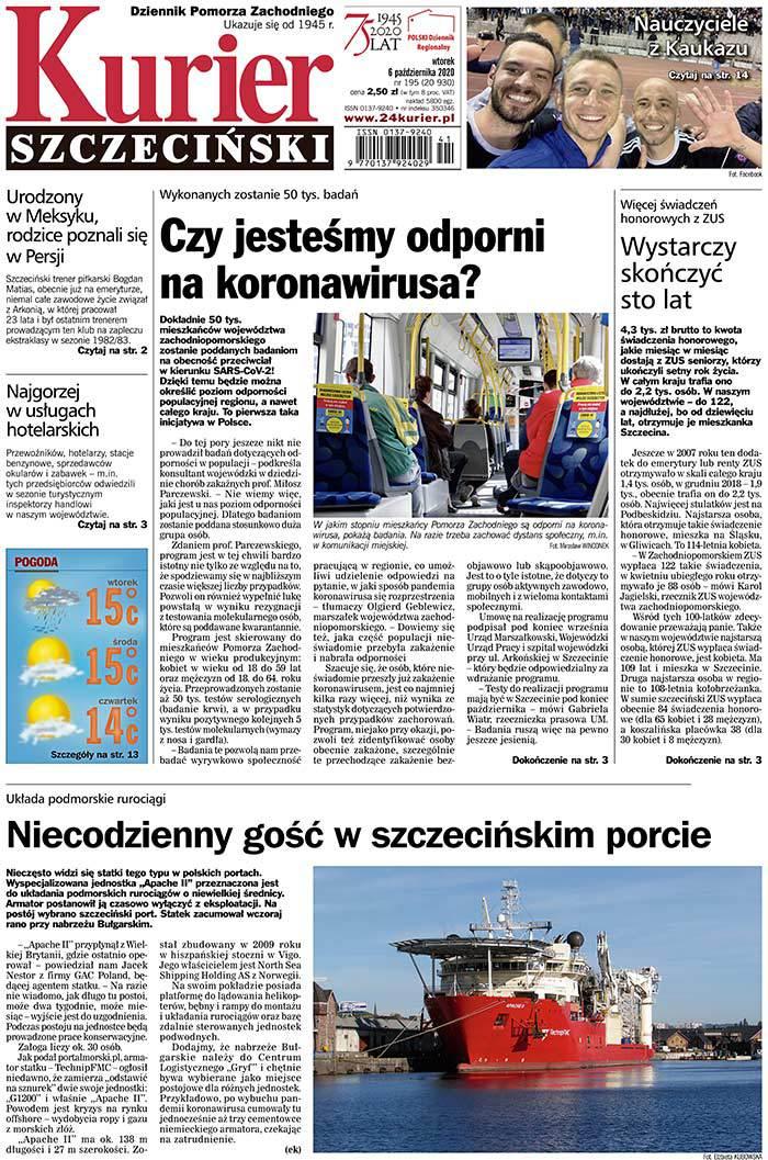 Kurier Szczeciński -                     2020-10-06