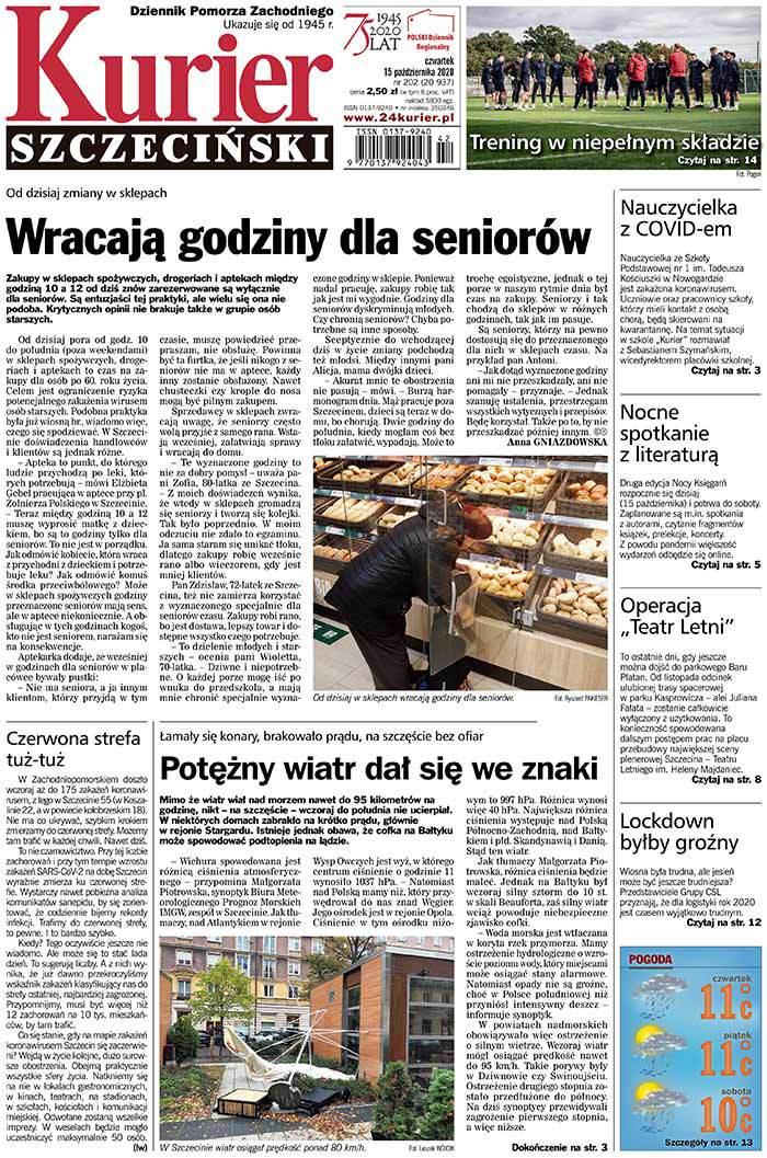 Kurier Szczeciński -                     2020-10-15