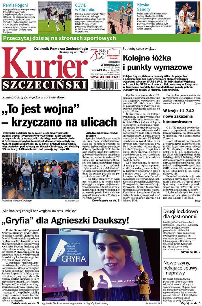 Kurier Szczeciński -                     2020-10-26