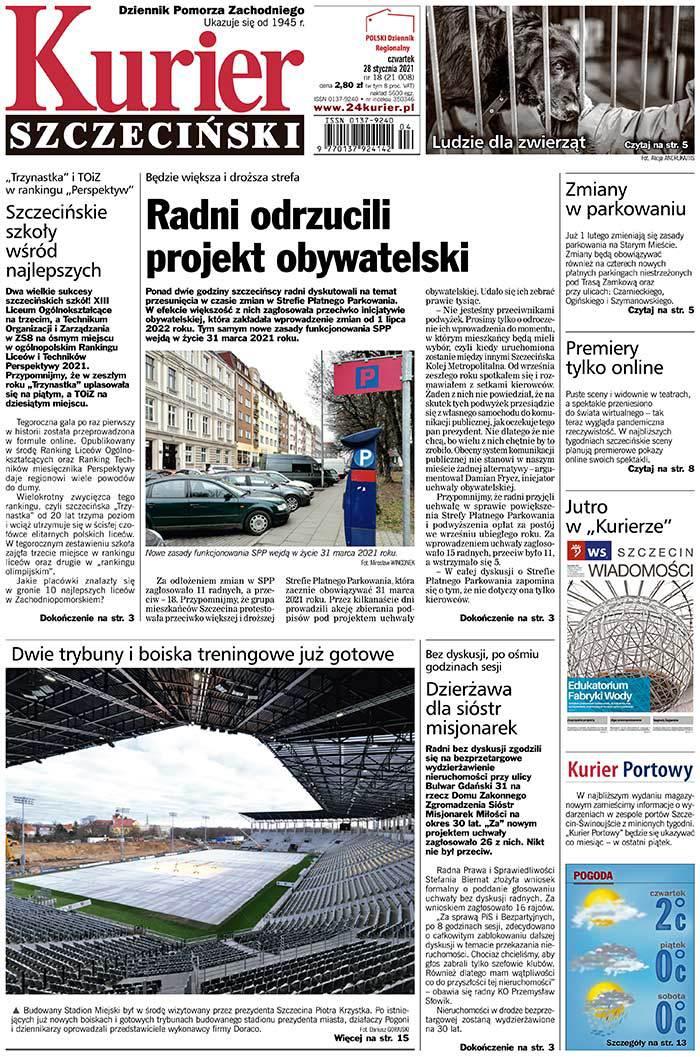 Kurier Szczeciński -                     2021-01-28