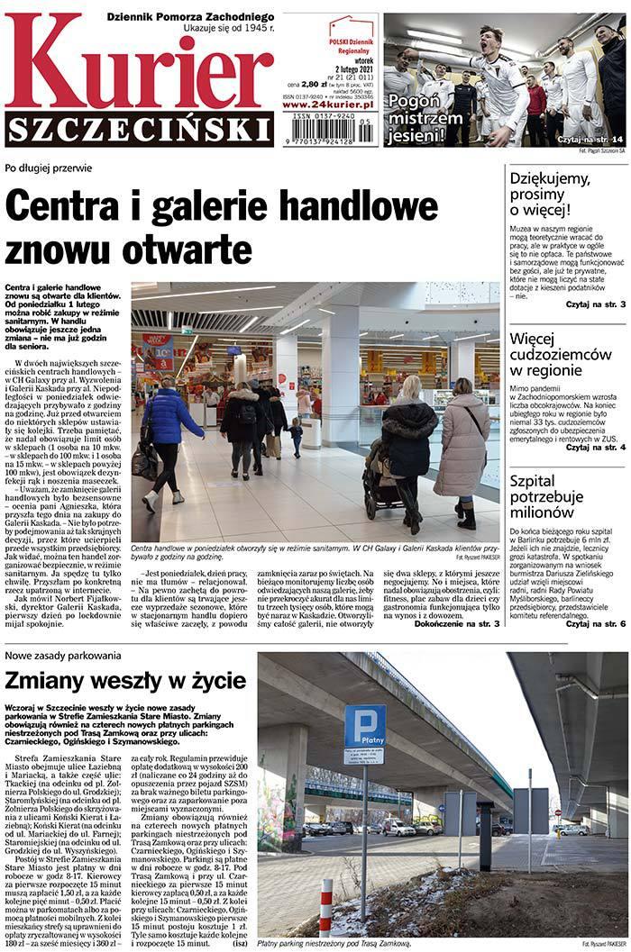 Kurier Szczeciński -                     2021-02-02