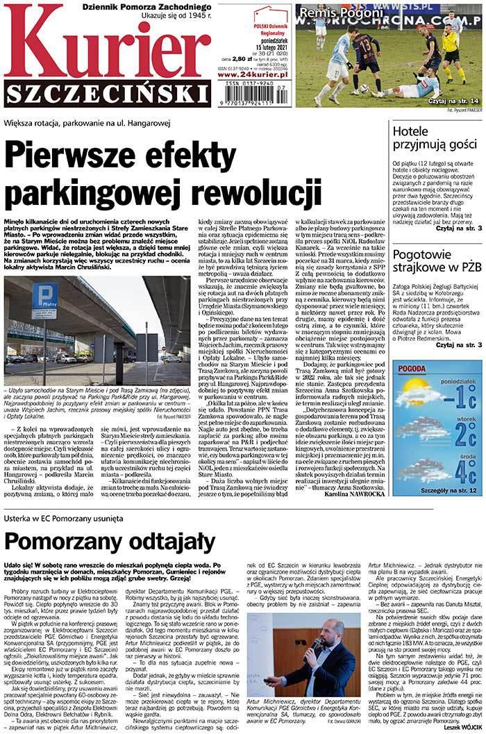 Kurier Szczeciński -                     2021-02-15
