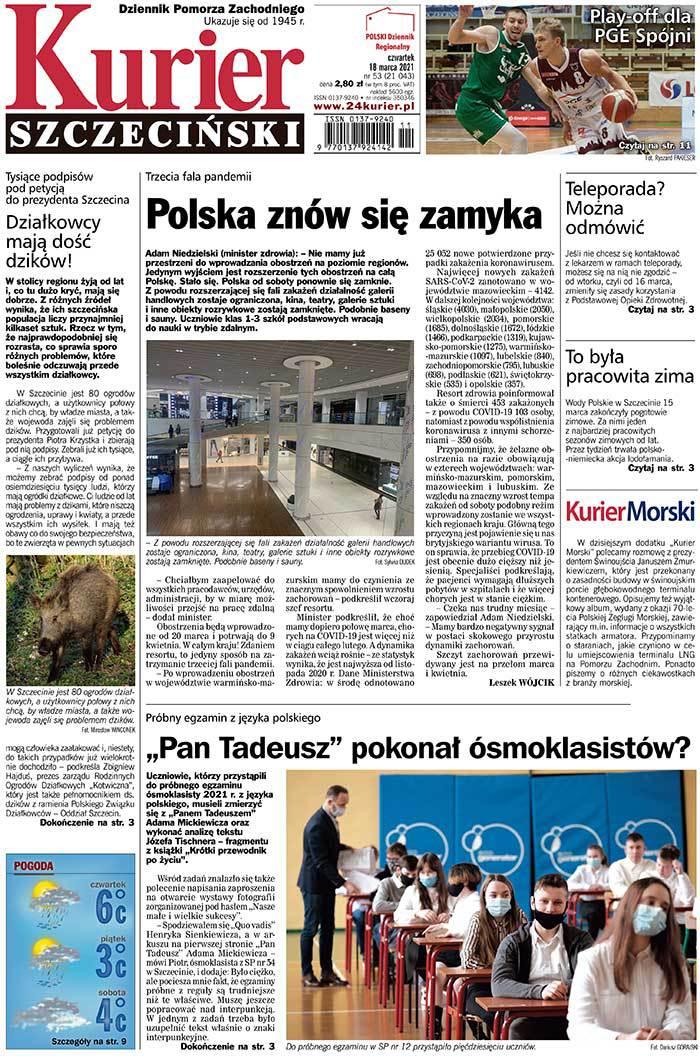 Kurier Szczeciński -                     2021-03-18
