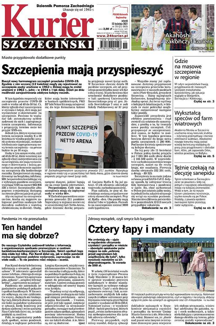 Kurier Szczeciński -                     2021-04-13