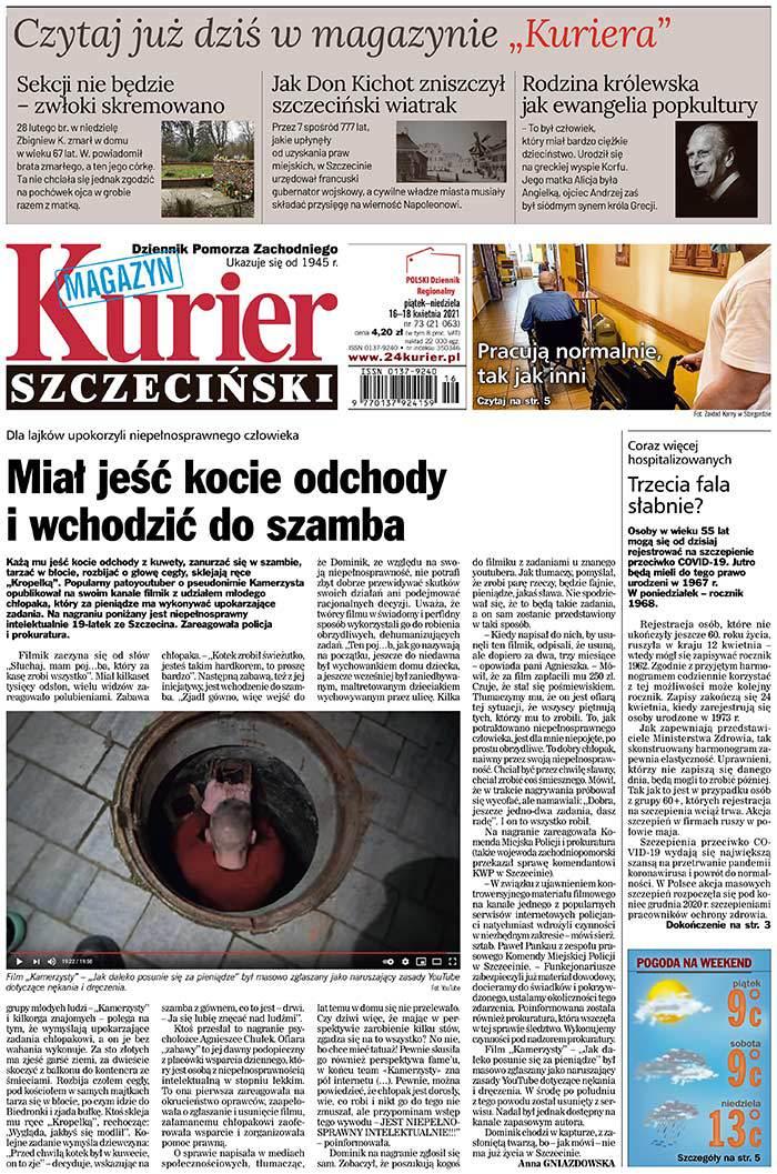 Kurier Szczeciński -                     2021-04-16