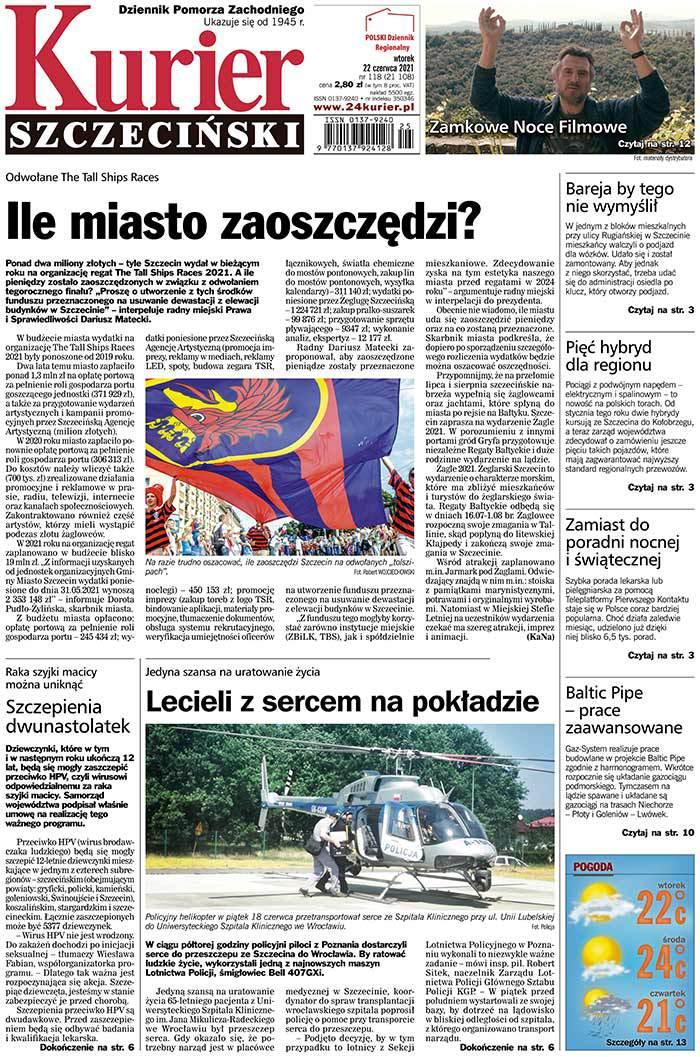 Kurier Szczeciński -                     2021-06-22