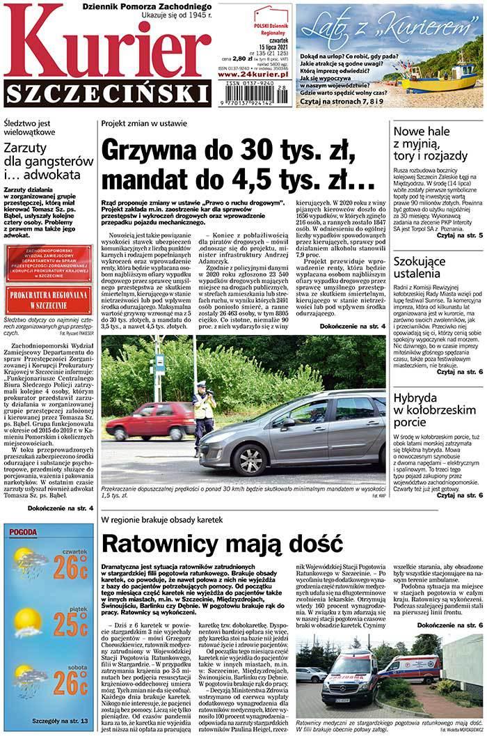 Kurier Szczeciński -                     2021-07-15