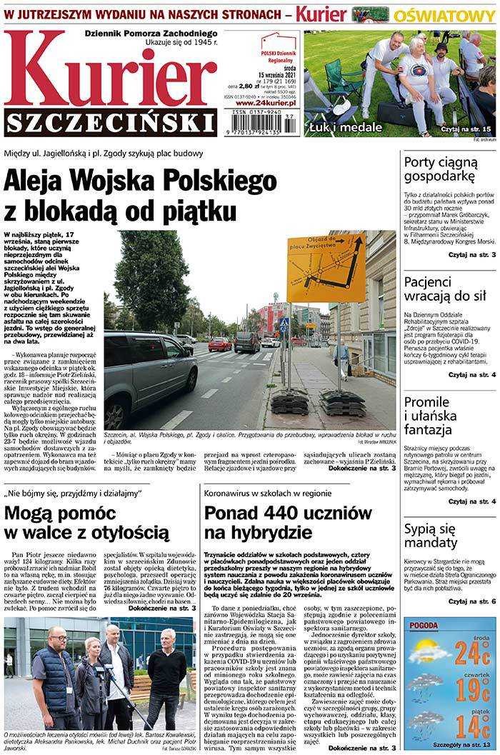 Kurier Szczeciński -                     2021-09-15