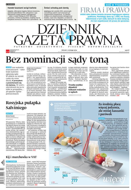 Dziennik Gazeta Prawna -                     2019-02-12