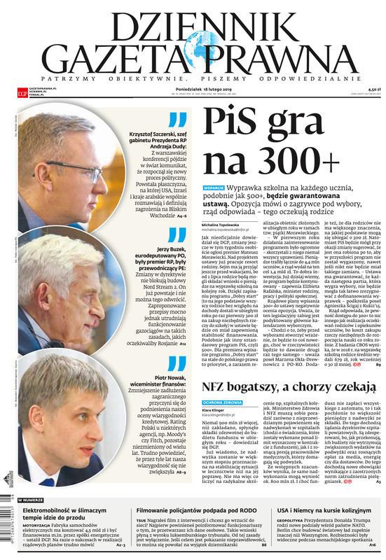 Dziennik Gazeta Prawna -                     2019-02-18