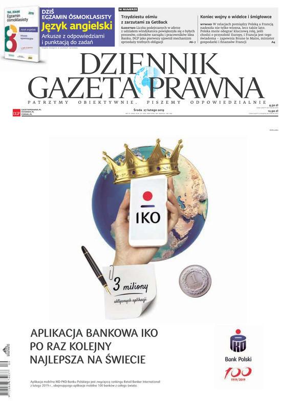 Dziennik Gazeta Prawna -                     2019-02-27