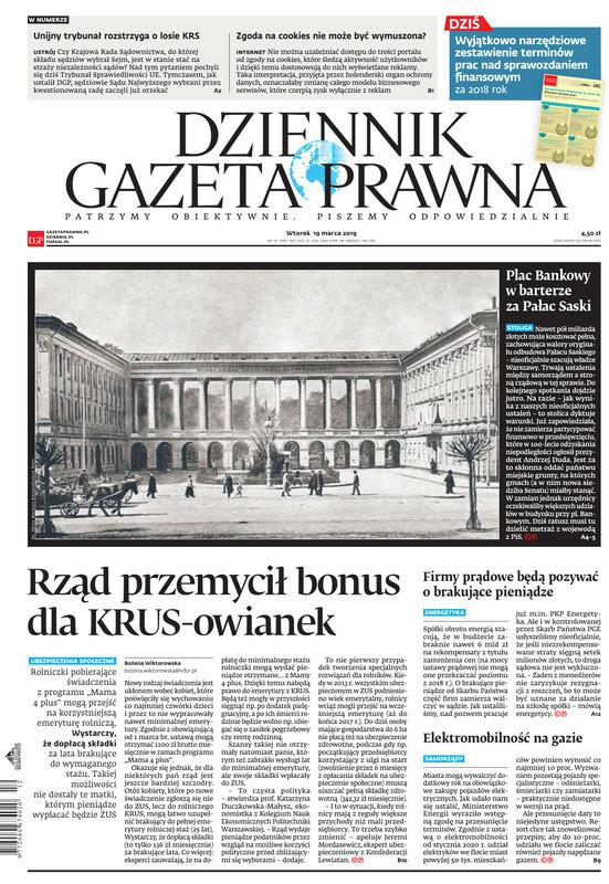 Dziennik Gazeta Prawna -                     2019-03-19