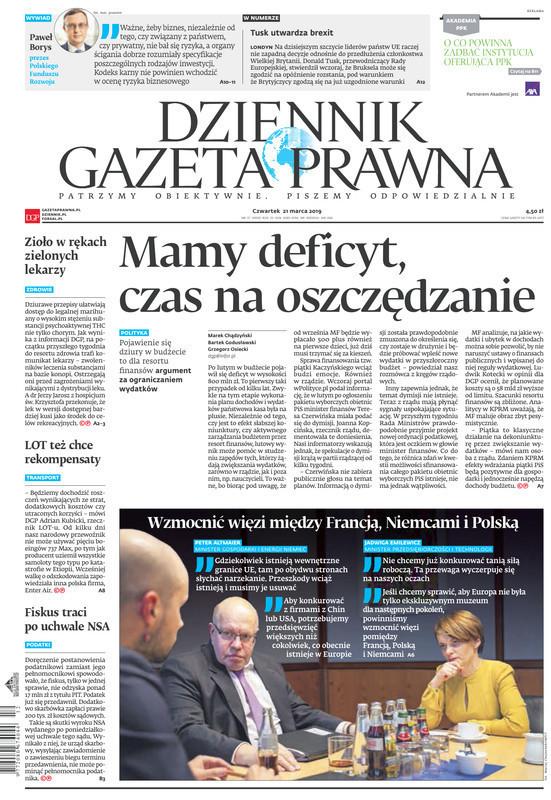 Dziennik Gazeta Prawna -                     2019-03-21