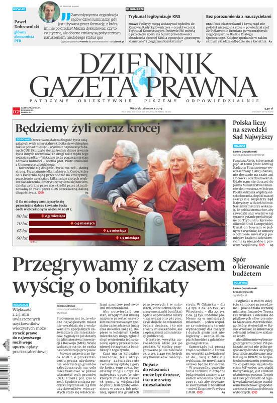 Dziennik Gazeta Prawna -                     2019-03-26