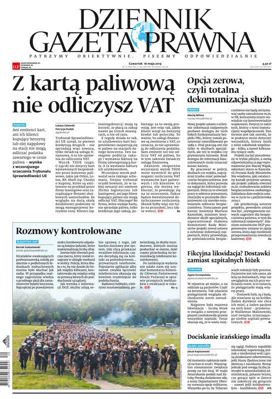Dziennik Gazeta Prawna -                     2019-05-16