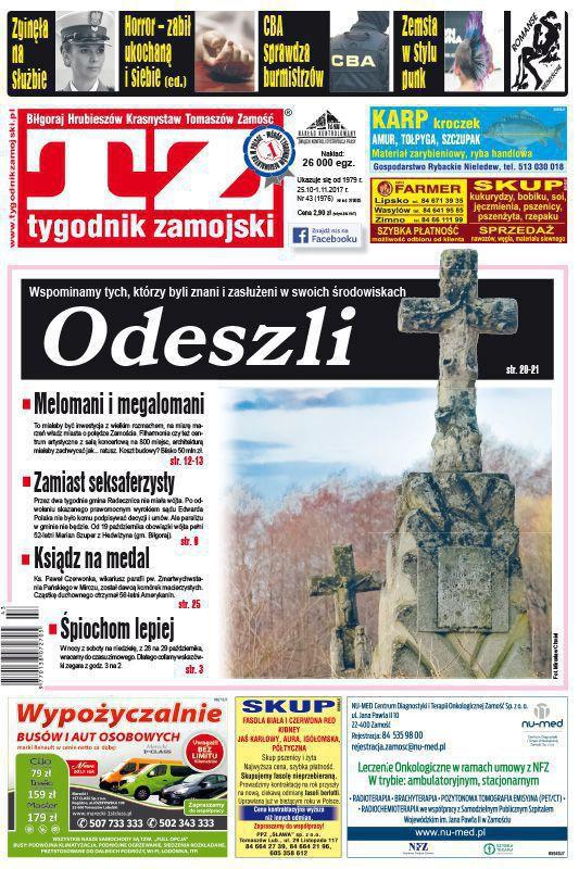Tygodnik Zamojski -                     43/2017