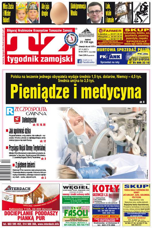 Tygodnik Zamojski -                     44/2017