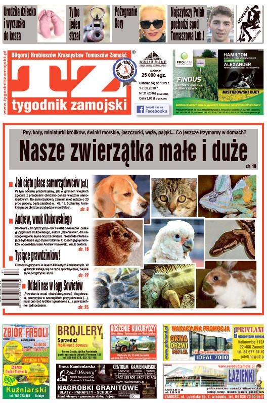 Tygodnik Zamojski -                     31/2018