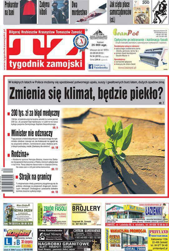 Tygodnik Zamojski -                     34/2018