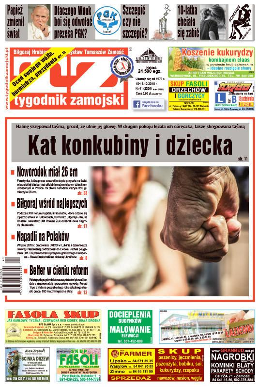 Tygodnik Zamojski -                     41/2018