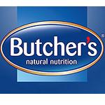 Karma dla psów Butcher's reklamowana na outdoorze