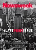 """Ostatnia okładka """"Newsweeka"""" z twitterowym tagiem"""