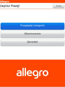 Aplikacje Allegro Biznes I Onet Pl W Blackberry App World
