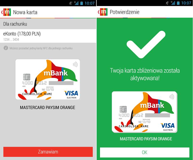 mbank opłata za kartę