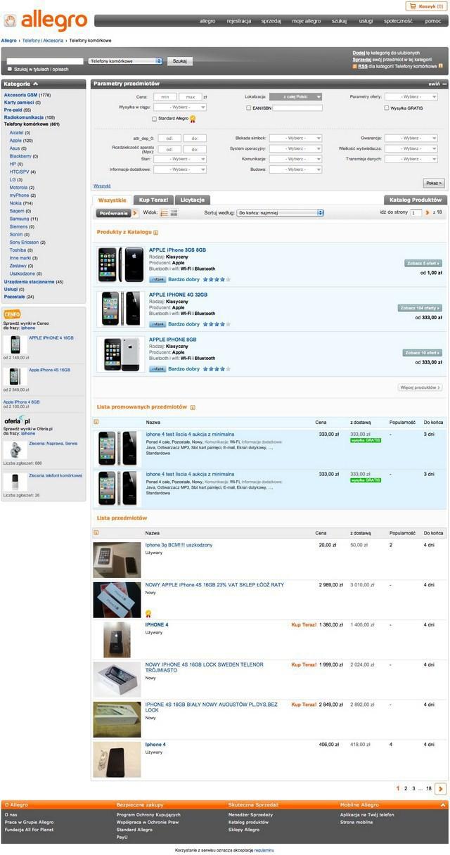 Allegro Przesuwa Do Gory Katalog Produktow