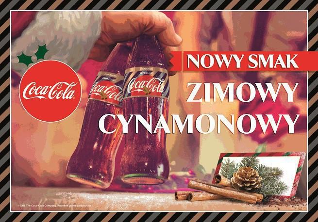 Znalezione obrazy dla zapytania coca cola cynamon