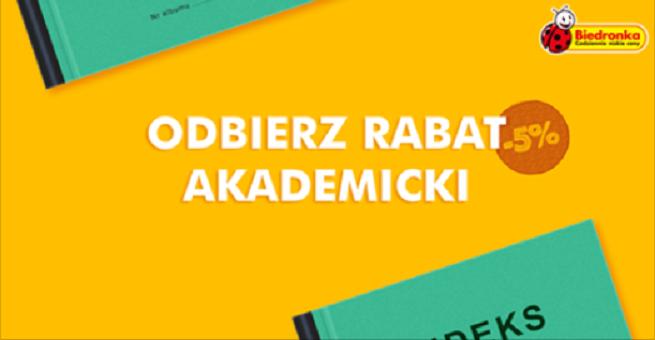 """cdba398873dbd2 """"Rabat studencki 5"""" - Biedronka ze specjalną promocją dla studentów"""