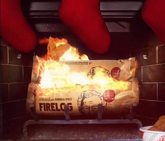 KFC FIRE LOG ENVIROLOG KENTUCKY FRIED CHICKEN 11 HERBS AND SPICES FIRELOG NEW
