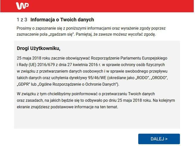 2f56483554d358 Wirtualna Polska informuje użytkowników o zmianach związanych z RODO